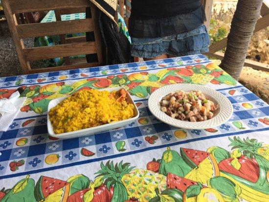 Boca de Yuma, Den dominikanske republikk: paella con polpo