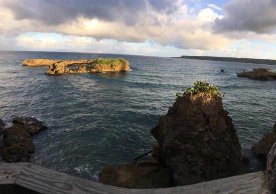 Boca de Yuma, Den dominikanske republikk: foto panoramica della costa