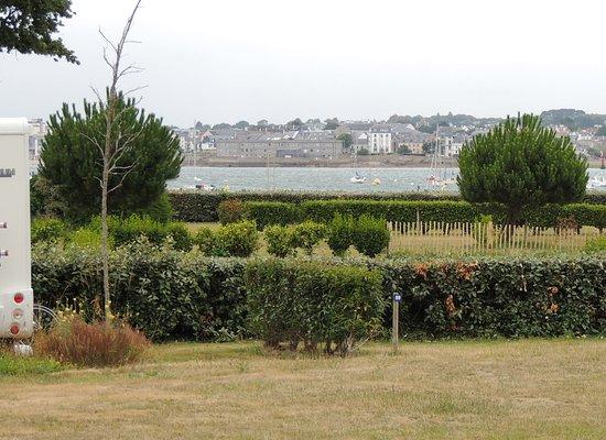 Le Cabellou Plage : vue depuis notre emplacement