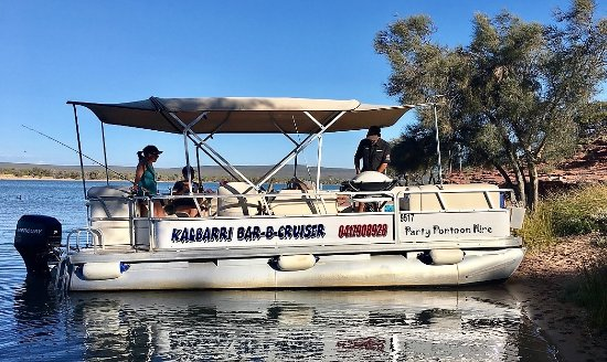 ‪Kalbarri Bar-B-Cruiser Party Pontoon Hire‬