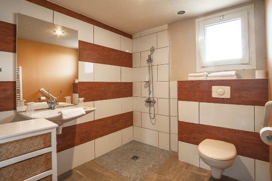 Pouzilhac, France: Salle de bain pour Personnes à Mobilité Réduite