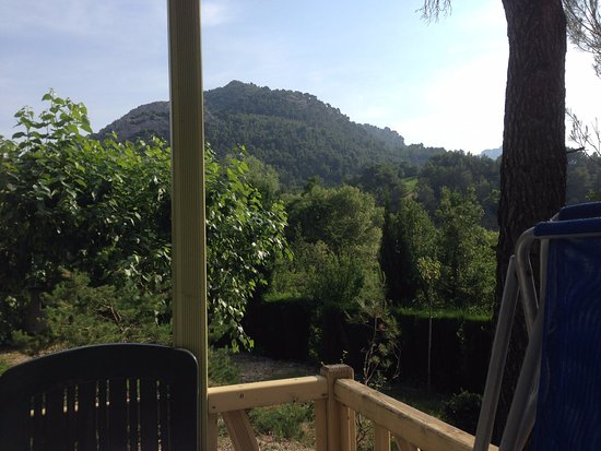 Camping de l'Ecluse : nice view from one of the chalets