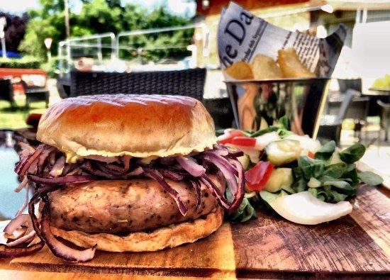 Childswickham, UK: sausage & onion sub roll