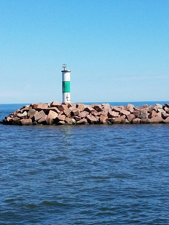 Portage, IN: Lighthouse from pier walk