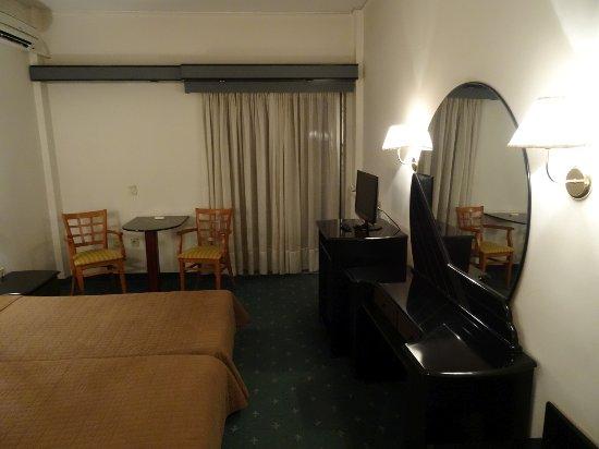 Hotel Philippion: Widok pokoju.