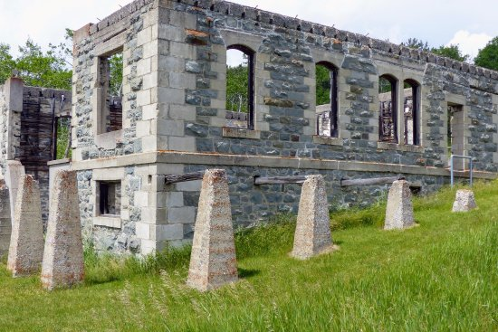 Crowsnest Pass, Canada: The ruins of the Mine Manager's home at Leitch Collieries.