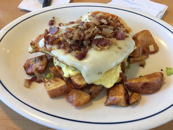 San Bruno, CA: Bacon crusted chicken.