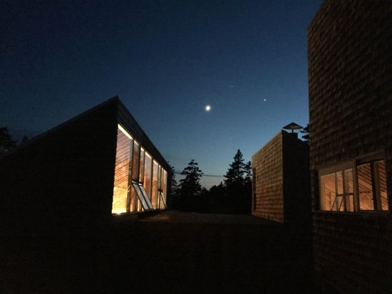 Deer Isle, ME: studios at night