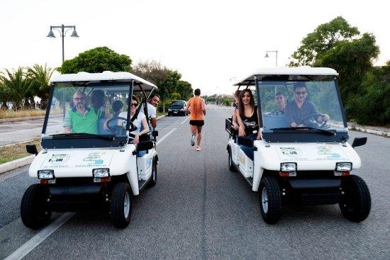 Golf Car sul lungomare di Roccella Ionica