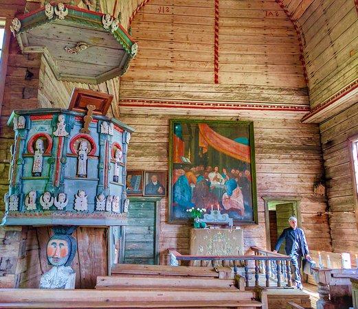 Interior of Petajavesi Old Church
