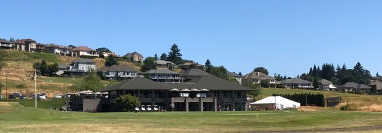 Salem, OR: View of club house from the course.