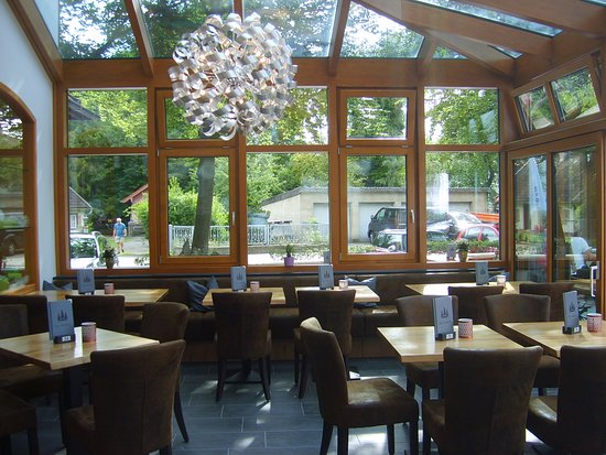 Wintergarten Picture Of Cafe Waldeck Ismaning Tripadvisor