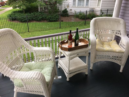 Skaneateles, NY: Rest, Relaxation and a glass of wine on the wrap-around porch