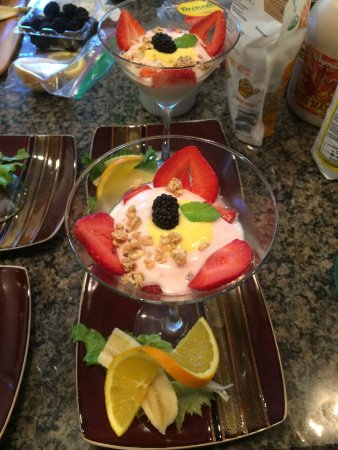 Skaneateles, NY: Strawberry Fruit Parfait with homemade spanish orange saffron creme de la creme