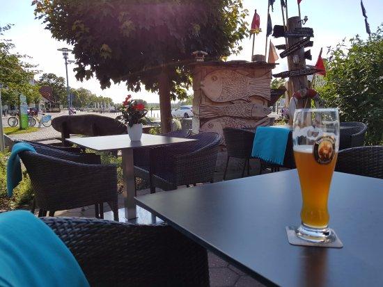 Greifswald, Germany: Fin udsigt til den gamle vippebro