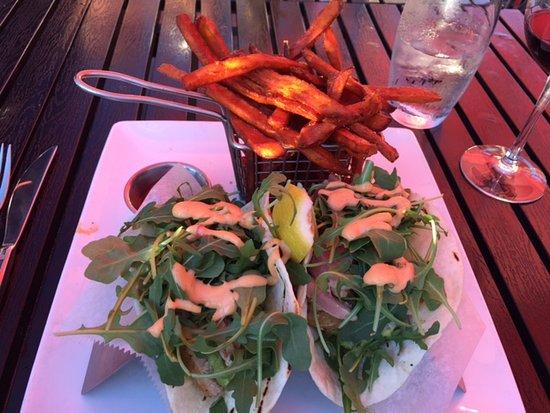Woodbury, CT: Ahi Tuna Soft Tacos with Sweet Potato Fries