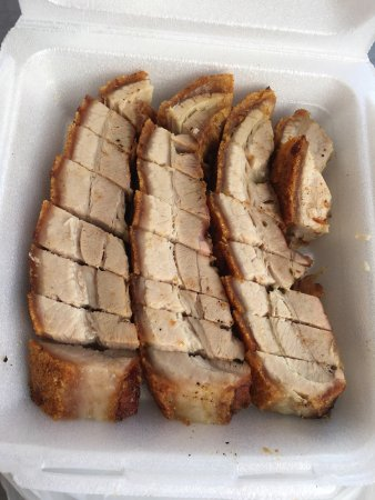 Roast pork and Gau Gee - Picture of Roast Duck Kitchen Inc, Aiea ...
