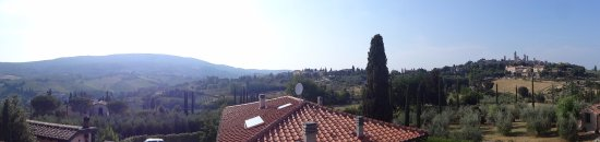 Locanda Viani: Panoramic view from the private roof top terrace.