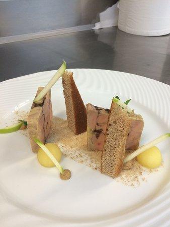 La Gentilhordière : foie gras pain d'épices et pomme