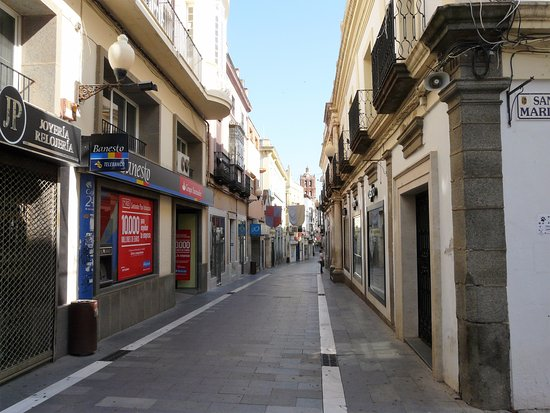 Zafra, Spanien: Calle Sevilla