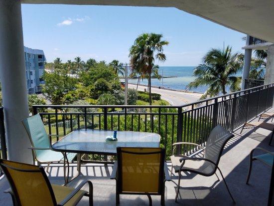 1800 Atlantic Suites: Oceanview room standing just inside sliding patio door.