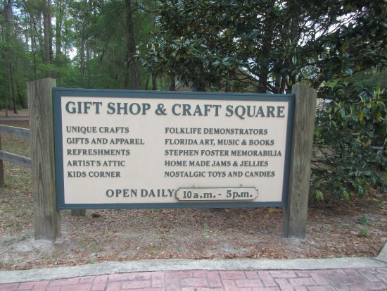 White Springs, Flórida: Information on crafts center