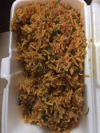 Teji's Indian Restaurant & Grocery: Thanks BroS :) chicken biryani - not dry and full of flavor w/tasty heat plus ample portion for