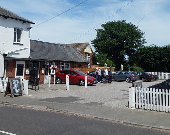 Thorpe le Soken, UK: half of the car park