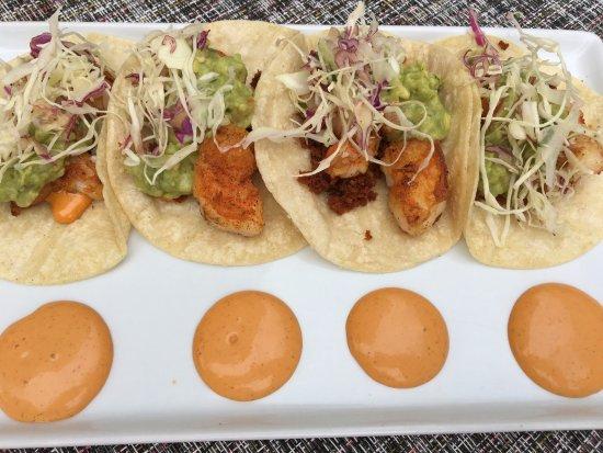 Geneva, IL : Shrimp and chorizo tacos