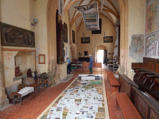 Slovenj Gradec, Eslovênia: Special exhibition n the church
