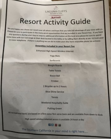 Laguna Cliffs Marriott Resort & Spa: This is what your $30/day gets you PLUS $37/Day for parking