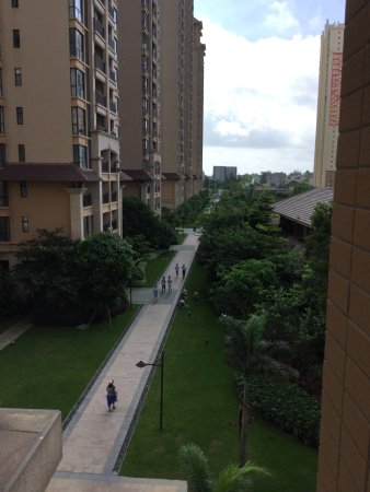 Beihai, China: View from 3rd floor room balcony