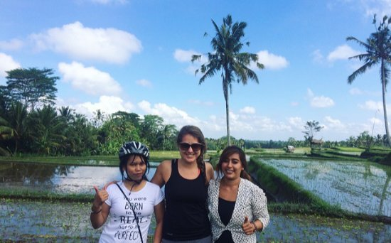 Praety Home Stay: On our cykling tour, with Pretty & her best friend!