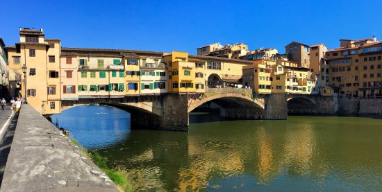 Freya's Florence Tours: The Medici's covered bridge route to their home.