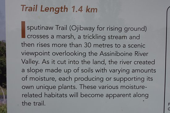 Carberry, Канада: Isputinaw Trail description