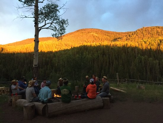 Mc Coy, CO: Beautiful sunset view at pack camp