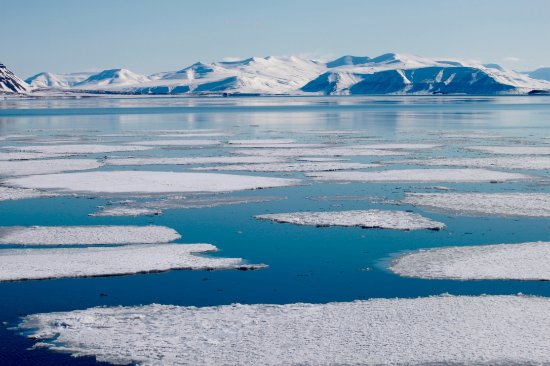 Pyramiden: sheets of ice