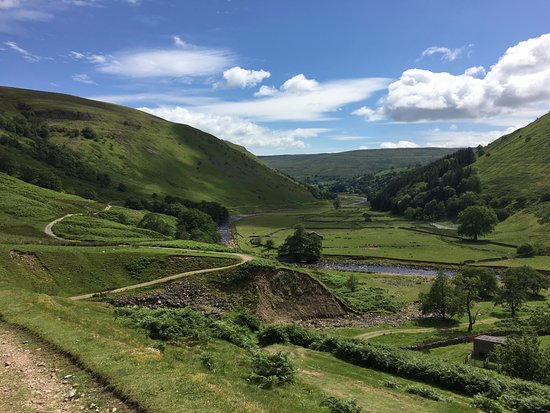 View down swale valley to Muker from Keld
