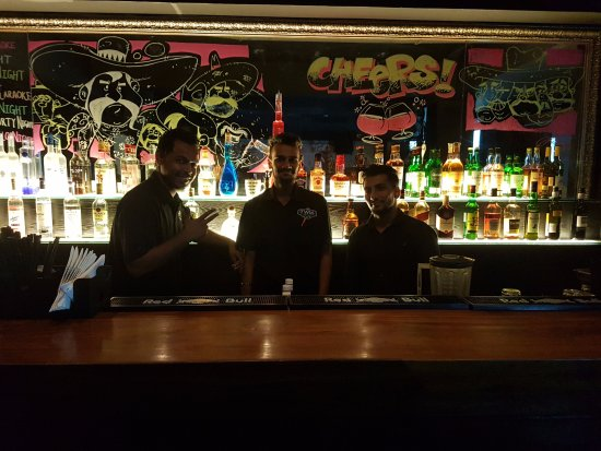 The Bar Counter Picture Of Three Wise Men Mumbai Tripadvisor