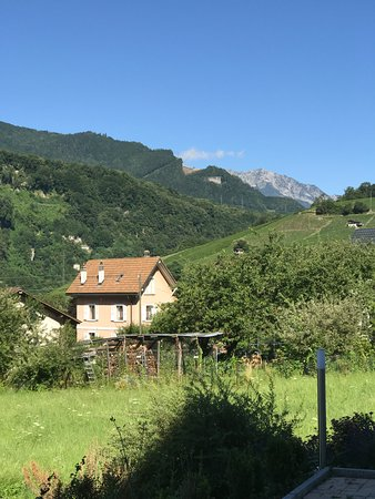 Lavey-les-Bains, Switzerland: greenery and mountains