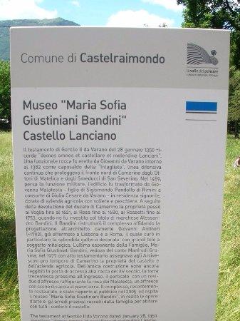 Castello di Lanciano: Insegna turistica