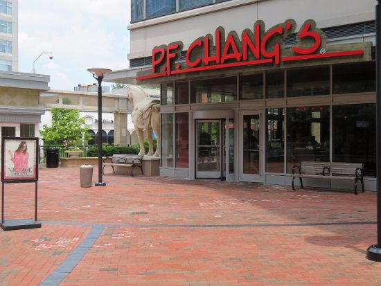 Chevy Chase, MD: The Restaurant Approached From the Plaza Level