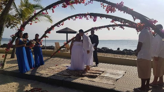 Sonaisali Island, Fiji: Wedding day at Doubletree Fiji