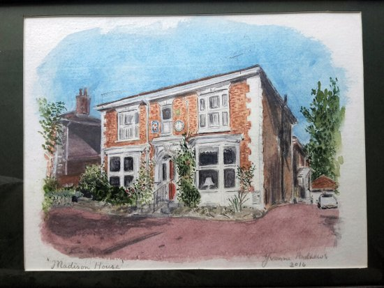 Madison House: Painting of the House by one of our regular visitors