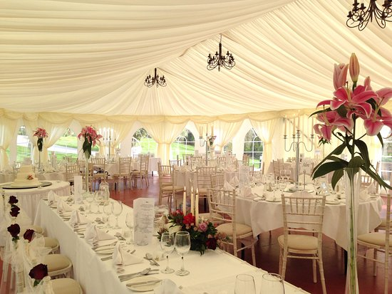 Fernhill House Hotel: Garden Marquee set for a reception.