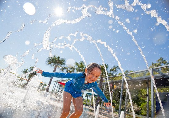 Gladstone, Australia: The water play park at East Shores recreational precinct