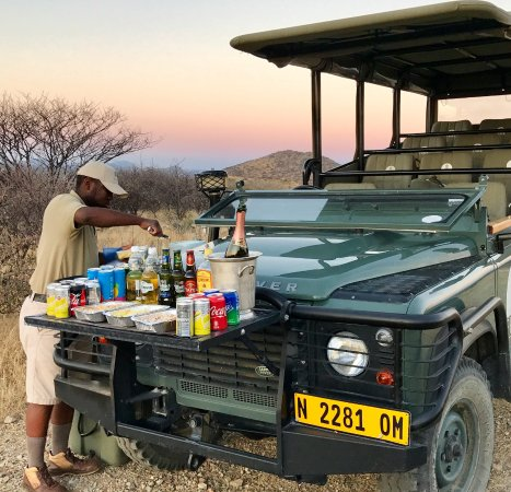 Epako Game Lodge : Sundowners were a real highlight - and an amazing choice