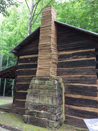 Burnsville, WV: Bulltown Historic Area, beside Park Ranger Gate