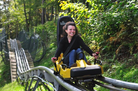 McHenry, MD: Wisp's Mountain Coaster is a favorite activity in the Deep Creek Lake Area.