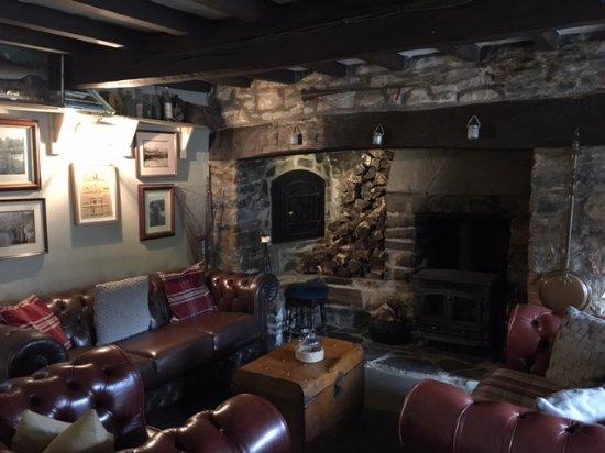 Brechfa, UK: One side of the bar